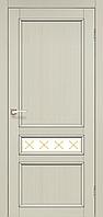 "Двери межкомнатные Корфад ""CL-07 ПО сатин"" со штапиком."