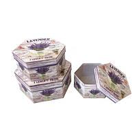 Подарочные коробки Букет лаванды, набор, 3 шт