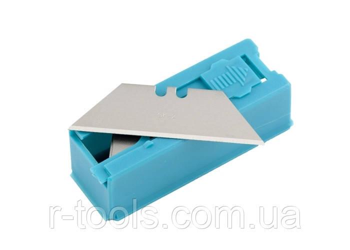Лезвия 19 мм трапециевидные пластиковый пенал 12 шт GROSS 79376
