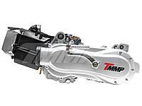 Двигатель квадроцикл 1P57QMJ-D (ATV150) в сборе +масляный радиатор