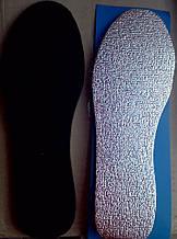 Стельки для обуви фольга  зима вырезная 36-46 размеры