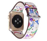 Кожаный ремешок Primo Color Flower для Apple Watch 38mm / 110mm