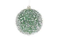 Елочный шар 8см, цвет - зеленый пенопласт 8 шт.