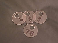 Номерок в гардероб круглый 60 мм, фото 1