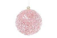 Елочный шар 8см, цвет - розовый пенопласт 8 шт.