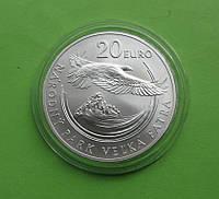 Словакия 20 евро 2009 г. Флора и фауна ,серебро 33,63 гр.