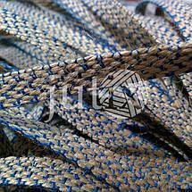 Декоративная лента (джутовая), 10 мм, X-узор., фото 3