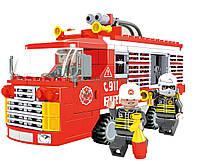"""Конструктор  AUSINI 21601  """"Пожарная техника"""" 309 деталей в коробке 35*25*6  см."""