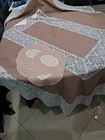Набор скатерть + салфетки ( 6 шт) овальные