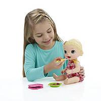 Кукла Беби Элайв вместе с едой Baby Alive Super Snacks Snackin Lily Blonde
