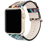 Кожаный ремешок Primo Graffiti для Apple Watch 42mm / 44mm, фото 2