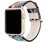 Шкіряний ремінець Primo Graffiti для Apple Watch 42mm / 44mm, фото 2