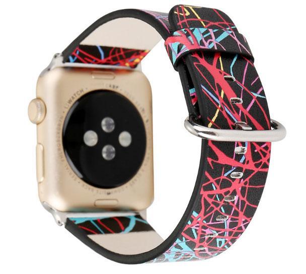 Кожаный ремешок Primo Graffiti для Apple Watch 42mm / 44mm