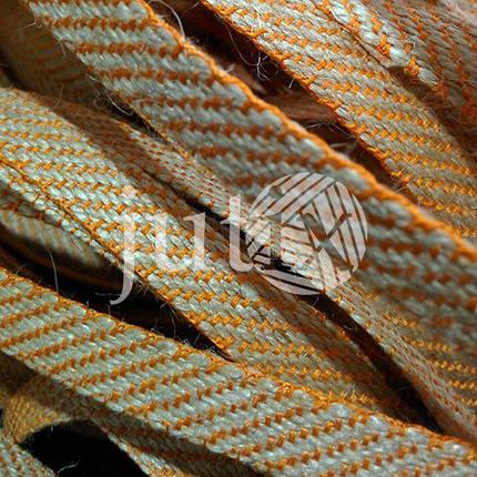Декоративная лента (джутовая), 12 мм, S-узор. Оранжевый, фото 2