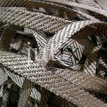 Декоративная лента (джутовая), 12 мм, S-узор., фото 2