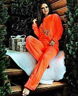 """Женский махровый костюм-пижама """"Тигра"""". Р-ры: 42-44."""