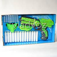 Детский пистолет с флуоресцентными патронами присосками и подсветкой зелёный