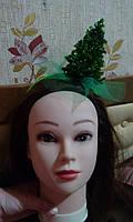 """Обруч на голову к карнавальному костюму """"Пышная Елочка"""""""