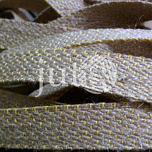 Декоративная лента (джутовая), 18 мм, X-узор., фото 2
