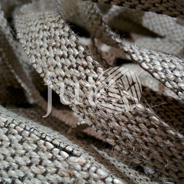 Декоративная лента (джутовая), 18 мм, X-узор.
