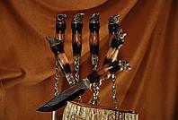 """Набор шампуров с ножом """"Дикие звери"""", в колчане (наличие уточняйте)"""