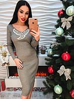 """Красивое женское платье с модной аппликацией """"Флирт"""""""