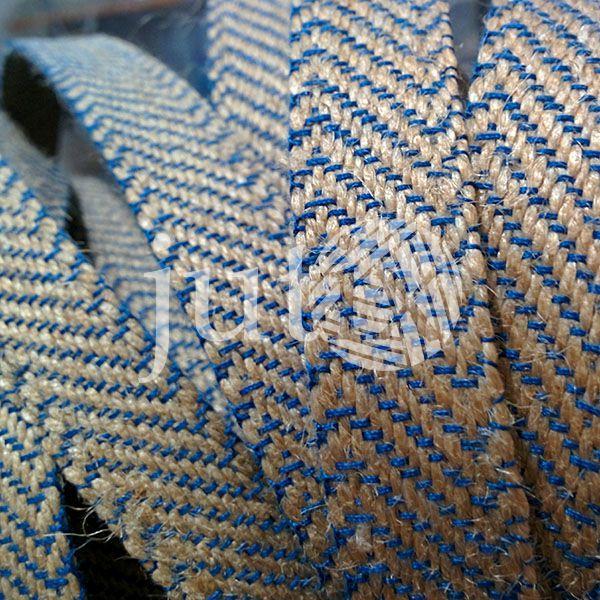 Декоративная лента (джутовая), 18 мм, Z-узор.