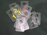 Номерки для гардеробов 40*60 мм, фото 1