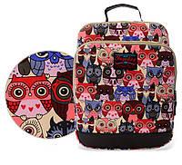 Школьный портфель с ярким принтом