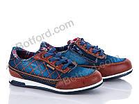 Туфли BG 7212 сине-коричневый