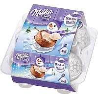 Milka Snowballs Шоколадные шарики с начинкой 4 шт 112г, фото 1