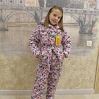 """Детская одежда.   Зимний костюм """"Цветочек-17""""(розовый"""