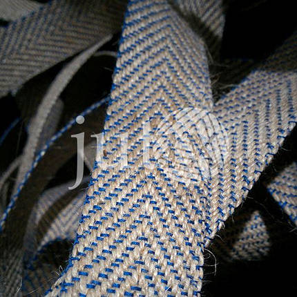 Декоративная лента (джутовая), 30 мм, V-узор., фото 2