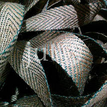 Декоративная лента (джутовая), 30 мм, V-узор., фото 3
