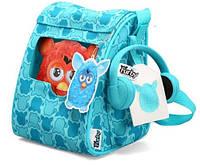 Рюкзак сумка переноска с наушниками для Ферби Furby голубая