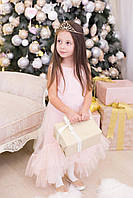 Нарядное детское платье с отделкой из евросетки