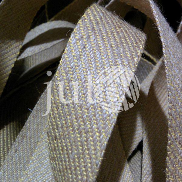 Декоративная лента (джутовая), 36 мм, S-узор.