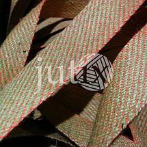 Декоративная лента (джутовая), 36 мм, S-узор., фото 2