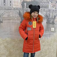 Детская одежда.  Пальто зимнее - Бренд(красный)                         ), фото 1