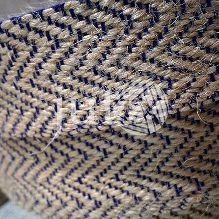 Декоративная лента (джутовая), 36 мм, W-узор., фото 2