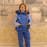 Зимний костюм оборочка(василек-узор)
