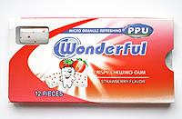Жувальна гумка Wonderful полуничний смак 12 подушечок 24 блістери Туреччина