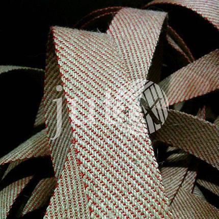 Декоративная лента (джутовая), 42 мм, S-узор., фото 2
