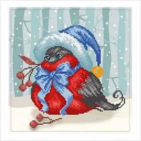 """Схема для вышивки бисером 'Праздничная птичка"""""""
