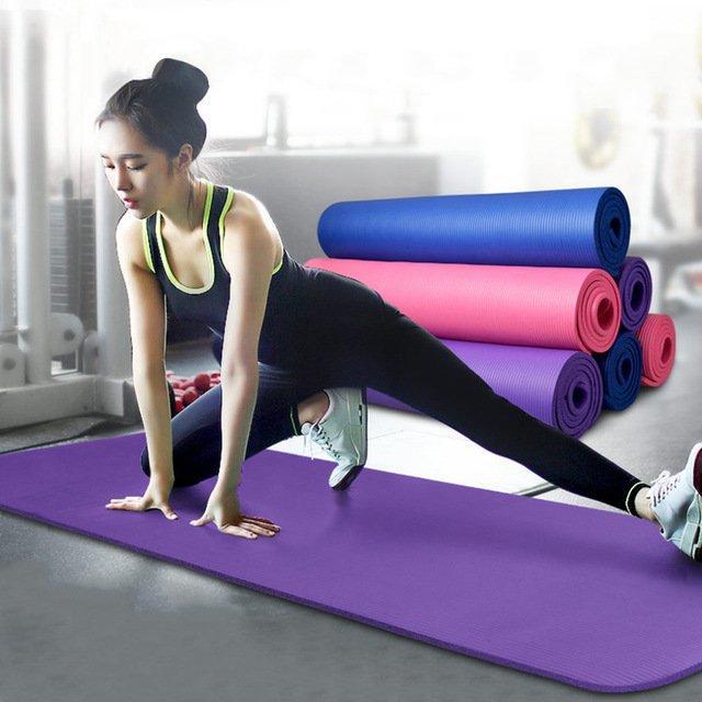 Коврик-Мат для йоги и фитнеса из вспененного каучука OSPORT Premium NBR 183х61см толщина 1см (FI-0075) - OSPORT - Спортивные товары в Киеве