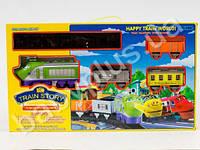 Zhorya Железная дорога, паровоз, 3 вагона , муз, звуки паровоза, свет, 14дет, на бат-ке, в кор-ке