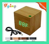Часы электронные зеленые цифры. VST 869-4 Green clock 6.5 x 6.5 x 6!Опт