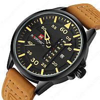 Мужские часы Naviforce модель NF9074bybn, цвет корпуса черный