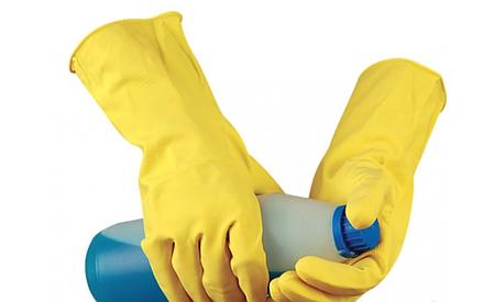 Перчатки кислотостойкие (КЩС) желтые, фото 2