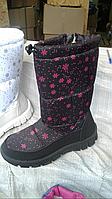 Дутики женские высокие  розовые Украина, фото 1